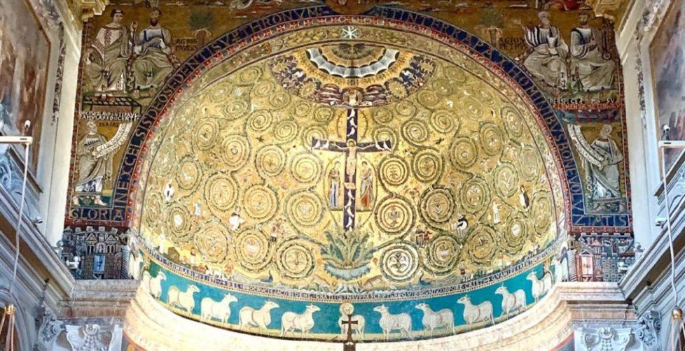 Мозаика конца XII века Древо жизни Базилика Святого Климента в Риме